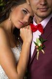 Bröllop brud, brudgum Arkivbild