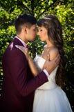 Bröllop brud, brudgum Royaltyfri Fotografi