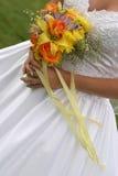 bröllop för 2 bukett royaltyfri bild
