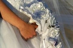 bröllop för 2 bukett Arkivfoto