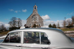 bröllop för 3 bil Arkivfoton