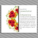 bröllop för abstraktionkortillustration Fotografering för Bildbyråer