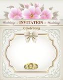 bröllop för abstraktionkortillustration Royaltyfri Bild