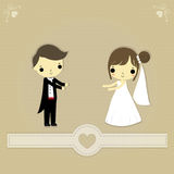 bröllop för abstraktionkortillustration Royaltyfri Fotografi