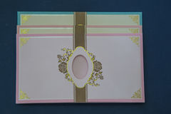 bröllop för abstraktionkortillustration Arkivbild