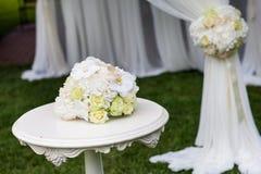 bröllop för brudceremoniblomma Arkivfoton