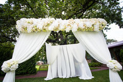 bröllop för brudceremoniblomma Arkivfoto