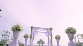 bröllop för brudceremoniblomma stock video