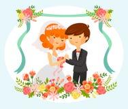 bröllop för brudgum för brudceremonikyrka stock illustrationer