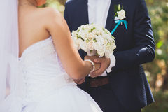 bröllop för brudgum för brudceremonikyrka Arkivbilder