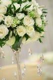 bröllop för fokusexponeringsglastabell arkivfoto