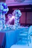 bröllop för fokusexponeringsglastabell Arkivfoton