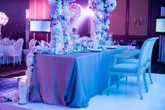 bröllop för fokusexponeringsglastabell Royaltyfria Foton