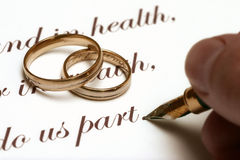 bröllop för gammal stil Arkivbild