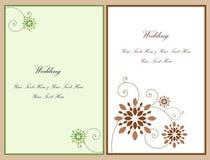 bröllop för inbjudan för 4 kort set Arkivfoto