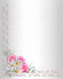 bröllop för inbjudan för bakgrundskant blom- Royaltyfri Fotografi