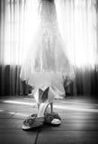 bröllop för klänningfragmentbeställning Arkivbild