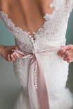 bröllop för klänningfragmentbeställning Royaltyfri Bild