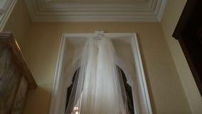 bröllop för klänningfragmentbeställning stock video