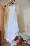 bröllop för klänningfragmentbeställning Arkivfoto