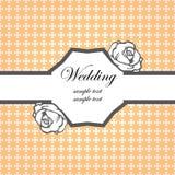 bröllop för kortinbjudanmall Royaltyfri Bild