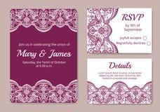 bröllop för kortset Royaltyfri Fotografi