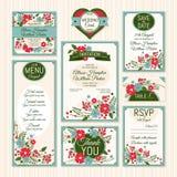 bröllop för kortset Royaltyfria Bilder