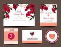 bröllop för kortset Tacka dig att card Royaltyfri Foto