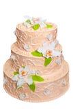 bröllop för 8 pie Isolerat över vit royaltyfria foton