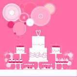 bröllop för 8 pie söt tabell också vektor för coreldrawillustration vektor illustrationer