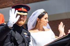 Bröllop för prins Harry och Meghan Markle royaltyfria bilder