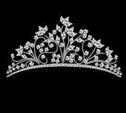 bröllop för rock för kristalldiadem kvinnligt Royaltyfria Foton