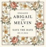 bröllop för romantiskt symbol för inbjudan för bakgrundseleganshjärtor varmt Den härliga blommakamomillen steg för eps-hälsning f stock illustrationer