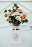 bröllop för tabell för händelsedeltagaremottagande set Royaltyfri Fotografi
