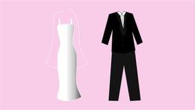 bröllop för tappning för klädpardag lyckligt Royaltyfria Foton