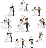bröllop för tecknad filmteckenvektor Royaltyfria Foton