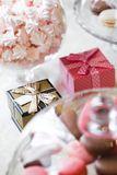 Bröllop Giftbox Arkivbild
