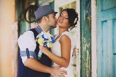 Bröllop hatt, stil som är gammal Arkivfoton