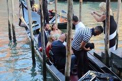 Bröllop i Venedig, Italien royaltyfri foto