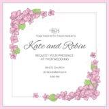 BRÖLLOP INVITERAR bröllopvektorillustrationen ställde in för tryck royaltyfri illustrationer