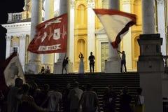 Bröllop med fans av den Torino fotbollen arkivbilder