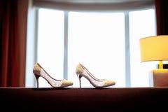 Bröllop skor Arkivfoto