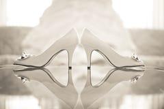 Bröllop skor kickhäl Royaltyfria Foton