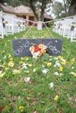 Bröllop skriver in inte tecknet Arkivfoton