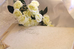 Bröllopalbum Arkivfoto