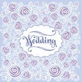 Bröllopbakgrund och hälsninginskrift Arkivbilder