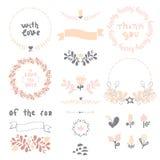 Bröllopbeståndsdeluppsättning Arkivbild