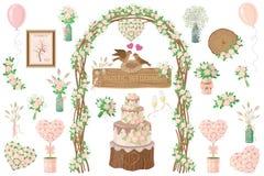 Bröllopbeståndsdeluppsättning Fotografering för Bildbyråer