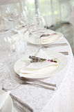 Bröllopbordsservis Fotografering för Bildbyråer