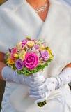 Bröllopbouque Arkivbild